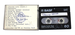 "Prince 1989 Original Unreleased ""Crucial"" Demo Digital Audio Tape (DAT)"