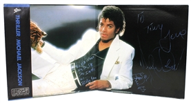 "Michael Jackson ""Billie Jean"" Lyrics Inscribed and Signed With Initialed Hand Drawing Japanese ""Thriller"" Album"