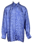 Prince Stage Worn Purple & White Versace Dress Shirt