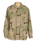 Tupac Shakur Owned and Worn Long-Sleeved Camouflage Jacket  Shirt
