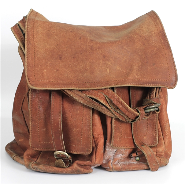 Jimi Hendrix Owned & Used Brown Leather Saddle Style Bag from The Mike Quashie Jimi Hendrix Collection