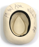 "Michael Jackson Signed & Inscribed Stage Worn ""Smooth Criminal"" White Fedora"