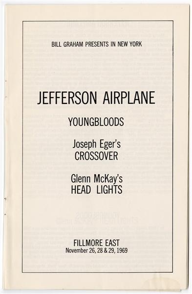 Lot Detail - Jefferson Airplane Original 1969 Fillmore East