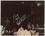 "Tupac Shakur s ""Fuck The World"" Inscribed Original Personal Photograph"