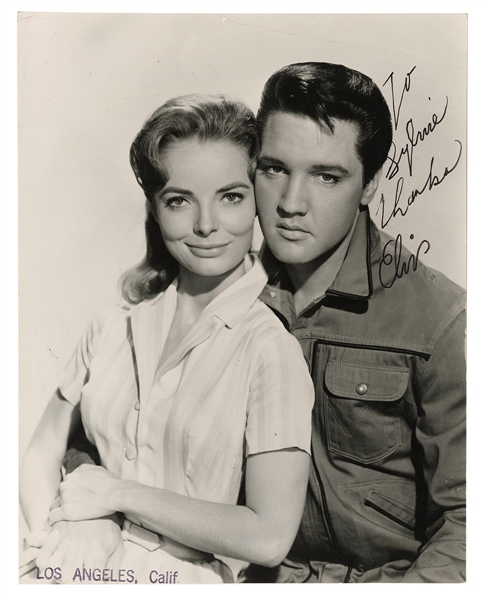 "Elvis Presley Signed & Inscribed Original ""Roustabout"" Promotional Photograph with Joan Freeman"