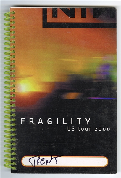 Trent Reznors Nine Inch Nails 2000 Fragility U.S. Tour Book