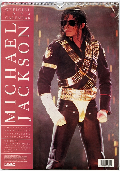 Michael Jackson Official 1994 Unopened Calendar