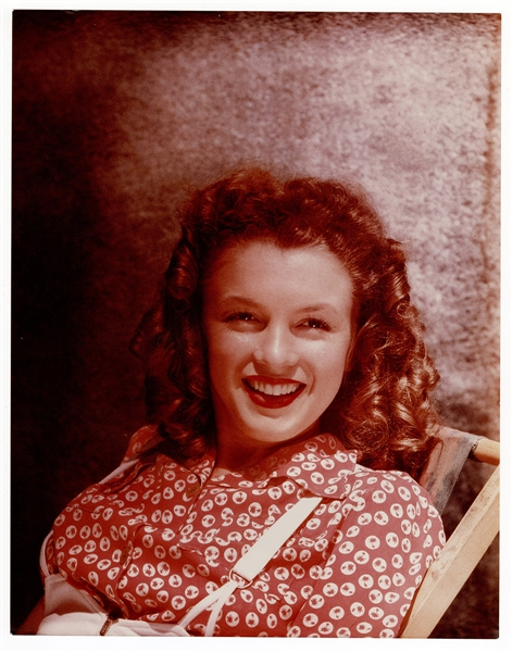 "Marilyn Monroe Original 11 x 14 ""Norma Jeane Dougherty"" Early Modeling Photograph"
