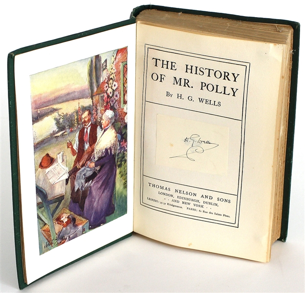 "Michael Jacksons H.G. Wells  ""The History of Mr. Polly"" Signed Bookplate"