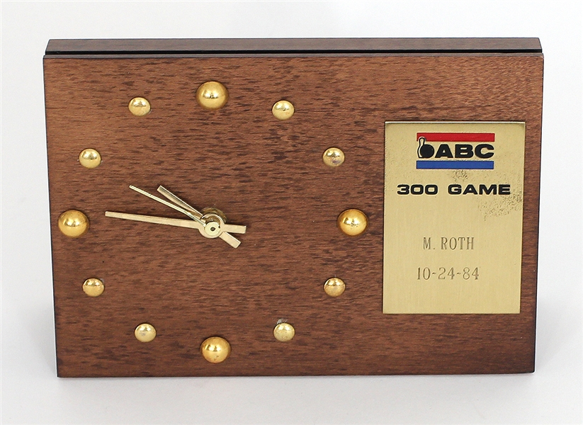 Mark Roths ABC 300 Game Bowling Clock Award