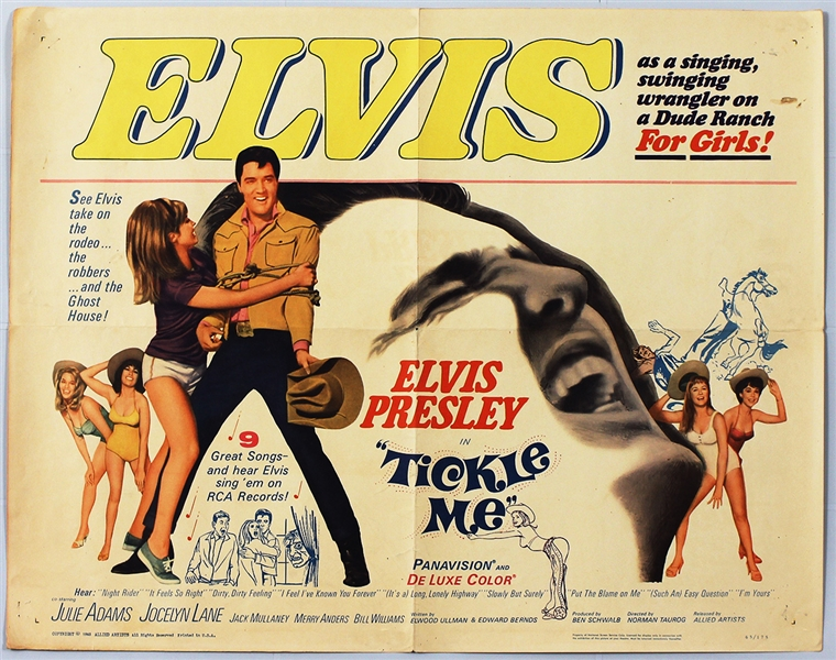 "Elvis Presley ""Tickle Me"" Original Movie Poster"