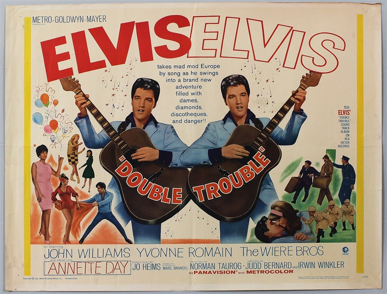 "Elvis Presley ""Double Trouble"" Original Movie Poster"