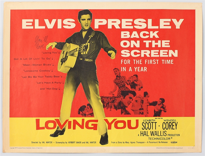 "Elvis Presley ""Loving You"" Original Movie Poster"