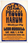 Procol Harum and Leon Russell Original 1970 Concert Poster