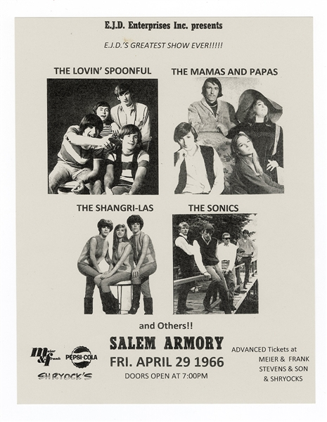 Lovin Spoonful and The Mamas and the Papas Original 1966 Concert Handbill