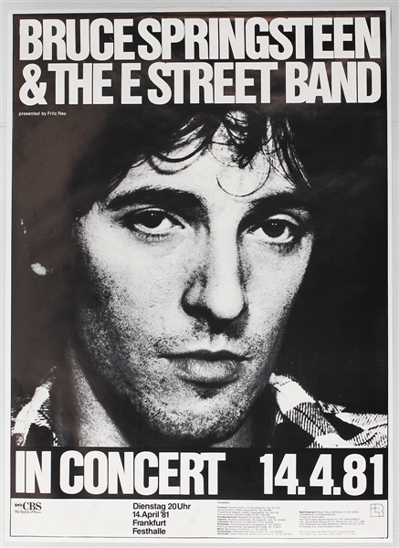 Bruce Springsteen Original 1981 German Concert Poster