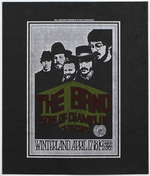 The Band BG #169 1969 Winterland Orginal Bill Graham Concert Pellon