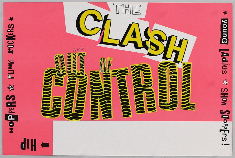 The Clash Original Concert Poster