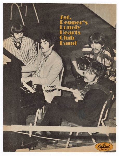 Beatles Original Sgt. Pepper's Lonely Hearts Club Band Capitol Records Advertisement from Teen Set Magazine