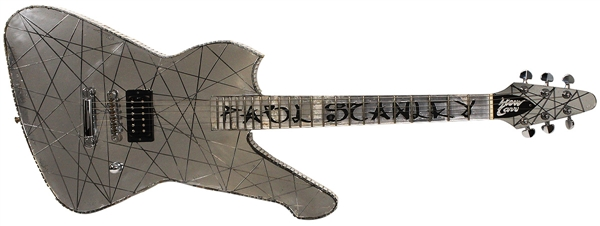 Paul Stanleys KISS 2001 Farewell Tour Japan Stage Used and Signed Steve Carr Custom Mirror Guitar