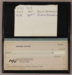 Madonna Ciccone Personal Checkbook With Handwritten Note