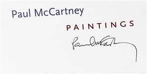 "Paul McCartney Signed ""Paintings"" Book"