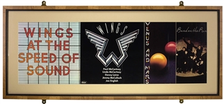 Paul McCartney 1976 Wings At The Speed Of Sound Framed Promotional Poster
