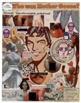 John Lennon Twice-Signed and Inscribed Hand-Made Collage Birthday Gift Given to Elton John