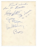 The Beatles Signed Promotional Photograph Authenticated by Frank Caiazzo