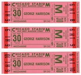 George Harrison 1974 North American Tour Unused Concert Tickets