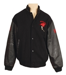 "Michael Jackson ""HIStory Tour"" Worn and Signed Panthers Football Jacket with Bird Brooch"