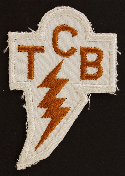 Elvis Presleys Personally Owned TCB Lightning Patch