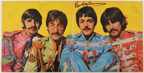 "Beatles Signed ""Sgt. Peppers Lonely Hearts Club Band"" Album Display Authenticated by Frank Caiazzo"