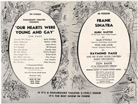 Frank Sinatra Paramount Theatre 2-For-1 Show Program