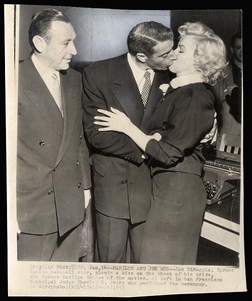 "Lot Detail - Joe DiMaggio and Marilyn Monroe ""Wedding ..."