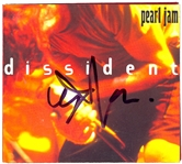 "Pearl Jam ""Dissident"" CD Cover Signed by Eddie Vedder"