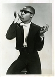 Little Stevie Wonder Original Photograph Playing the Harmonica