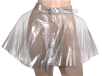 "Ariana Grande ""God Is A Woman"" and Instagram Worn Custom Silver Glitter Skirt"