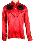 "Jimi Hendrix Owned & Worn Red ""Cowboy"" Style Shirt from the Collection of Mike Quashie"