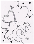 Taylor Swift 2007 Signed Hand Drawing