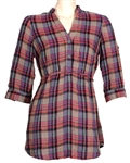 "Taylor Swift ""Valentines Day"" Film Worn Plaid Tunic Blouse"