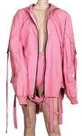 Ariana Grande Vevo Presents Stage Worn Custom Ashton Michael Pink Jacket and Shorts