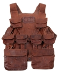 Tupac Shakur Owned and Used Brown Leather TKO Backpack