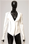 Spice Girl Mel C 2001 Brit Awards Worn Custom White Leather Backless Jacket