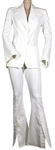 "Spice Girl Victoria Beckham ""Not Such an Innocent Girl' Television Performance Worn Custom White Linen Two-Piece Suit"