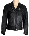 Freddie Mercurys Stage Worn Black Leather Motorcycle Jacket