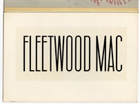Fleetwood Mac Original Logo Artwork from the Collection of Larry Vigon