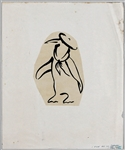 Fleetwood Mac Original Larry Vigon Penguin Logo Drawing Used on T-Shirts from His Personal Collection