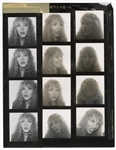 "Stevie Nicks Original Fleetwood Mac ""Live"" Album Head Shot Contact Sheets from the Collection of Larry Vigon"