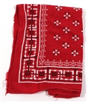 Bruce Springsteen Stage Worn Red Bandana From Obie